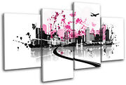 Abstract Floral Vector City Multi Canvas Wall Art Picture Print Va