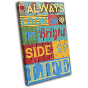 Inspirational Collage Vintage Single Canvas Wall Art Picture Print Va