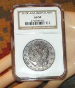 Rare Condition Russian Antique Silver Coin Rouble 1823 Ngc Au50 Imperial Russia