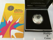 2015 Netball World Cup 1oz Silver Proof Domed Coin And 20c Australian Unc Coin