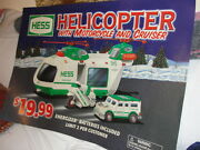 Hess Big Poster Helicopter With Motorcycle And Cruiser 2001
