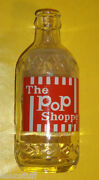 Pop Shoppe 10 Oz Clear Glass Bottle Painted Label Nice Graphics Nice See