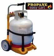 Propane Easy Cart For Heaters N Bbq Grills Refill Adapter Lp Tank Not Included