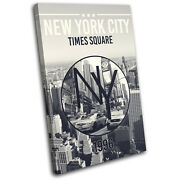 New York Ny Typography City Single Canvas Wall Art Picture Print