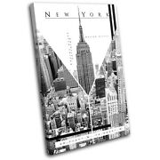 New York Nyc Abstract City Single Canvas Wall Art Picture Print