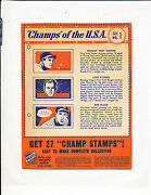1940 Wheaties Champ Of The Usa Complete Set With Variations