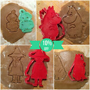 The Moomins Collection - Cookie Cutters - 4pcs - Plastic 3d Printed Pla