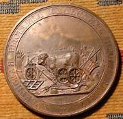 Rr Rare 1887 Russian Huge 65mm Bronze Medal Agricultural Products Antique Russia