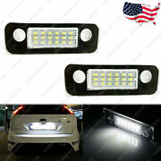 Exact Fit Led License Plate Light Xenon White Lamp For Ford Fiesta Focus Mustang