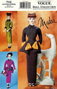 Vogue Doll Collection Clothes To Fit Madra Pattern 742 Uncut
