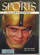 1955 Sports Illustrated Magazine Don Holleder Army-navy Football Preview
