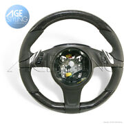 Oem Porsche Panamera 970 Gts 4s Birch Wood And Agate Grey Leather Steering Wheel