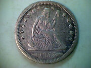 1855-s Arrows Liberty Seated Quarter Xf Scarce Date