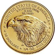 2021 1/4 Oz 10 Gold American Eagle Coin Brilliant Uncirculated Type 2 In Stock