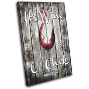 Shabby Chic Wine Drink Food Kitchen Single Canvas Wall Art Picture Print