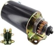 New 14 Tooth Starter And Solenoid For Cub Cadet Briggs John Deere Scotts Sabo