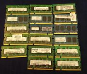 Lot Of 17 Laptop Ram Memory 1gb And 512mg Used Removed From Old Laptops.c16b1.