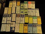 Vintage 1968 -1975 Septa Penn Central Railroad Timetable Lot Of 34 Different A11
