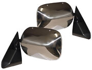 New Black And Chrome Adr Side View Mirror Pair / For Listed 88-99 Gm Trucks And Suvs