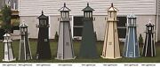 Amish-made Wooden Lighthouse With Lighting, 39 Tall - Available In 20 Colors