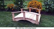 Amish-made Weight-bearing Cedar Oriental Bridge - Bridges In 8 Sizes And 9 Colors