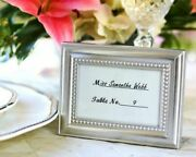 48 Beautifully Beaded Silver Photo Frames Place Card Holders Wedding Favors