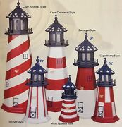 Amish-made Wood, Hybrid And Poly Patriotic Lighthouses