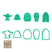 Star Wars Collection Set Cookie Cutters - 5 Pcs - Plastic 3d Printed Pla