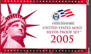 Us Mint Silver Proof Set 2005 - 11 Coin Set - Free Delivery In The U. S. A.