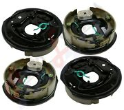 4pc Electric Trailer Brake 10 X 2.25 Assembly Right And Left Side 3500 Lb Axles
