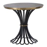 28 Round Accent Table Modern Iron Brass Sheet Natural Foil Antique Black Gold Y