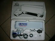 First Gear Mack 1960 Model B-61 Tractor And Trailer- Eagle Snacks 4 B 5