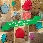 Ten Cookie Cutters Of You Choice With 10 Discount Plastic 3d Printed Pla