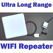 2 Mile Superlinxs 45dbm Long Range Wifi Repeater Antenna Router Booster Combo