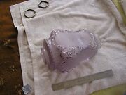 Antique Purple Opalescent Acid Etched Glass Lamp Shade Hanging Globe Flowers