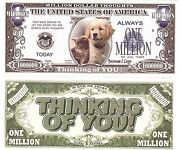 1-thinking Of You I Care- Dollar Bill- W/clear Protector Sleeve- Iten-h