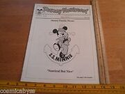 Disney Newsreel Wed Mapo Employees Mag 1982 Family Picnit Ss Minnie Epcot Sculpt