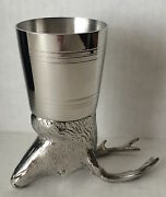 Pinder Brothers Jagermeister Stag Head English Pewter Cup, New In Box