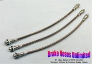 Stainless Brake Hose Set Graham Custom And Deluxe Supercharger 1940