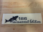 Key West Boats Domed 186 Tournament Edition Black Decal Single