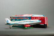 Antique Tin Toy Haji Mansei Toy Pan Am Battery Passenger Airplane Airlines