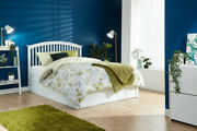 Wooden Curved Shaker Style Oak Or White Ottoman Gas Lift Bed + Mattress Options