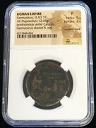 Year 19 Ad Roman Empire Ae Dupondius Germanicus Rare Only Year Issue Ngc Fine