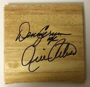 Rick Pitino And Denny Crum Louisville Cardinals Signed 6 X 6 Wood Floor Tile Auto