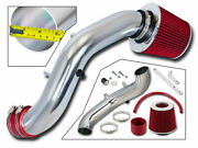Cold Short Ram Air Intake Kit Red For 02-05 Civic Si Only 2.0l I4 [full Set]