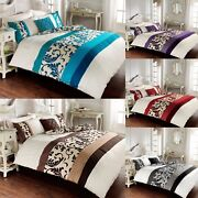 Scroll Swirl Pleated Modern Style Duvet Quilt Cover Sets Bedding Sets All Sizes