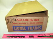 Lionel No. 022 One Pair Remote Control O Gauge Switches