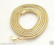 1.9mm Solid Round Snake Chain Necklace Real 14k Yellow Gold All Lengths