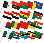 12x18 12x18 Set Of 20 African Countries Stick Flag Wood Staff