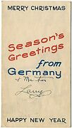 Wwii Hq Vii Corps Christmas Card/map